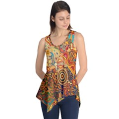 Ethnic Pattern Sleeveless Tunic