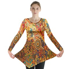 Ethnic Pattern Long Sleeve Tunic