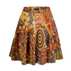 Ethnic Pattern High Waist Skirt