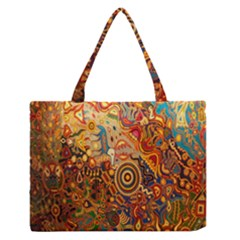 Ethnic Pattern Medium Zipper Tote Bag