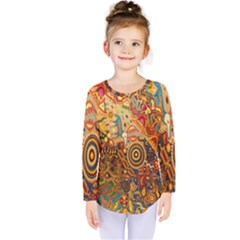 Ethnic Pattern Kids  Long Sleeve Tee