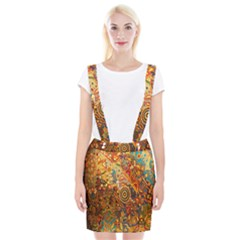 Ethnic Pattern Suspender Skirt