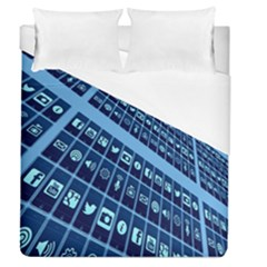 Mobile Phone Smartphone App Duvet Cover (queen Size)