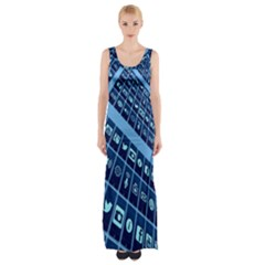 Mobile Phone Smartphone App Maxi Thigh Split Dress