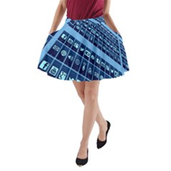 Mobile Phone Smartphone App A Line Pocket Skirt