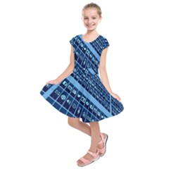 Mobile Phone Smartphone App Kids  Short Sleeve Dress