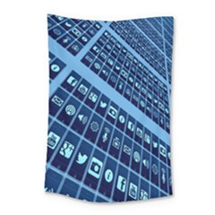 Mobile Phone Smartphone App Small Tapestry