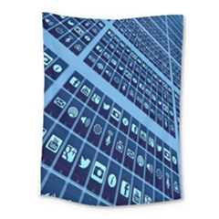 Mobile Phone Smartphone App Medium Tapestry