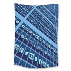 Mobile Phone Smartphone App Large Tapestry