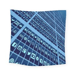 Mobile Phone Smartphone App Square Tapestry (small)