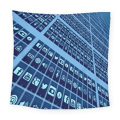 Mobile Phone Smartphone App Square Tapestry (large)