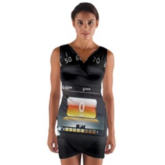 Interior Car Vehicle Auto Wrap Front Bodycon Dress