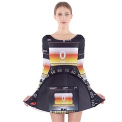 Interior Car Vehicle Auto Long Sleeve Velvet Skater Dress
