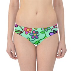 Flowers Floral Doodle Plants Hipster Bikini Bottoms