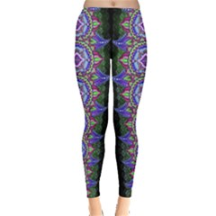 Mandalala In Green, Leggings  by livingbrushlifestyle