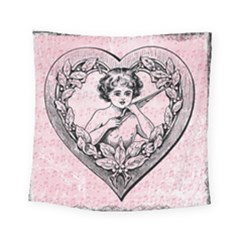 Heart Drawing Angel Vintage Square Tapestry (small) by Nexatart
