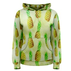 Pineapple Wallpaper Vintage Women s Pullover Hoodie by Nexatart