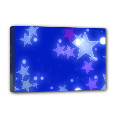Star Bokeh Background Scrapbook Deluxe Canvas 18  X 12   by Nexatart