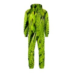 Fern Nature Green Plant Hooded Jumpsuit (kids) by Nexatart