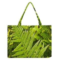 Fern Nature Green Plant Medium Zipper Tote Bag by Nexatart