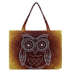 Owl Abstract Funny Pattern Medium Zipper Tote Bag by Nexatart