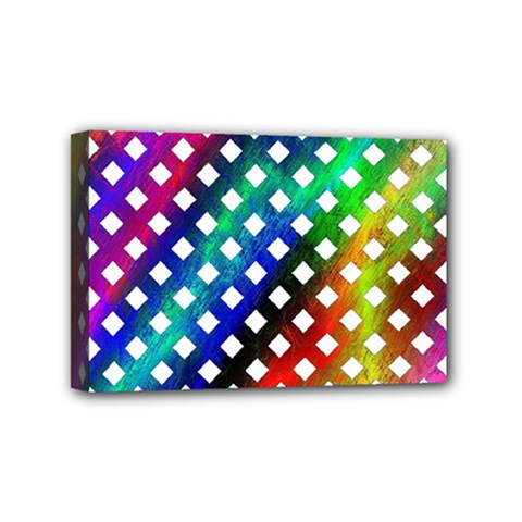 Pattern Template Shiny Mini Canvas 6  X 4  by Nexatart