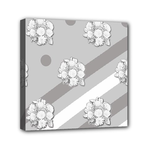 Stripes Pattern Background Design Mini Canvas 6  X 6