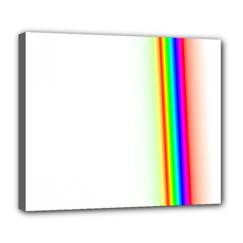 Rainbow Side Background Deluxe Canvas 24  X 20   by Nexatart
