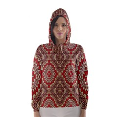Seamless Carpet Pattern Hooded Wind Breaker (women)