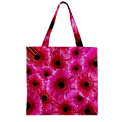 Gerbera Flower Nature Pink Blosso Zipper Grocery Tote Bag by Nexatart