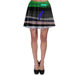 Abstraction Skater Skirt by Valentinaart