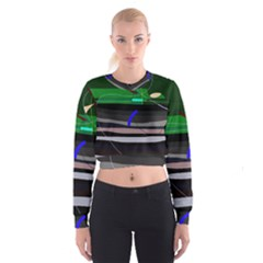 Abstraction Women s Cropped Sweatshirt