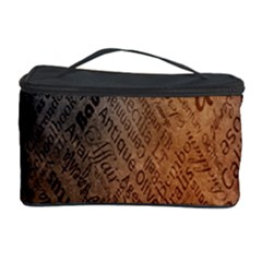 Typography Cosmetic Storage Case by Nexatart