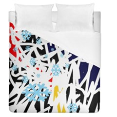 Abstraction Duvet Cover (queen Size) by Valentinaart
