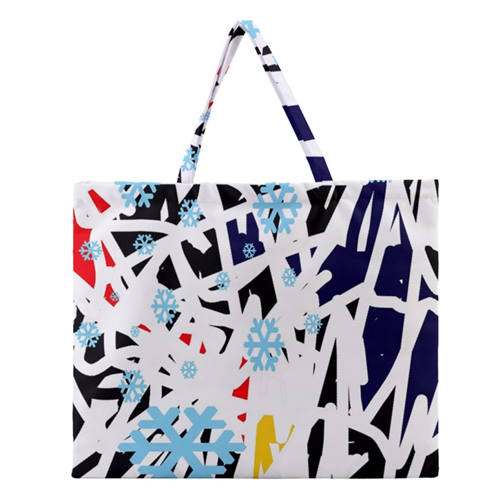 Abstraction Zipper Large Tote Bag