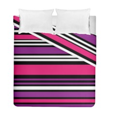 Stripes Colorful Background Duvet Cover Double Side (full/ Double Size) by Nexatart