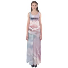 Pastel Roses Empire Waist Maxi Dress by Brittlevirginclothing