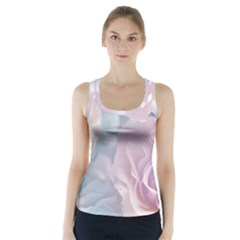 Pastel Roses Racer Back Sports Top by Brittlevirginclothing