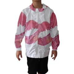 Pink Lips Hooded Wind Breaker (kids) by Brittlevirginclothing
