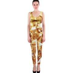 Golden Crystals Onepiece Catsuit by Brittlevirginclothing