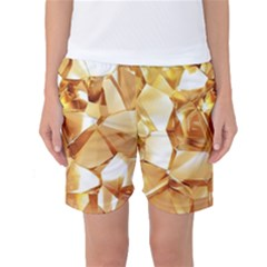 Golden Crystals Women s Basketball Shorts by Brittlevirginclothing