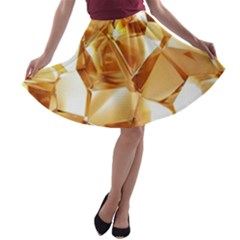 Golden Crystals A-line Skater Skirt by Brittlevirginclothing