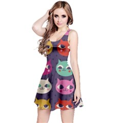 Colorful Kitties Reversible Sleeveless Dress by Brittlevirginclothing