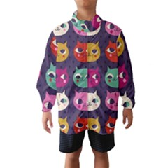 Colorful Kitties Wind Breaker (kids) by Brittlevirginclothing