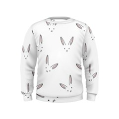 Cute Bunnies Kids  Sweatshirt by Brittlevirginclothing