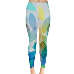 Rainbow Feather Leggings  by Brittlevirginclothing