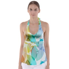 Rainbow Feather Babydoll Tankini Top by Brittlevirginclothing