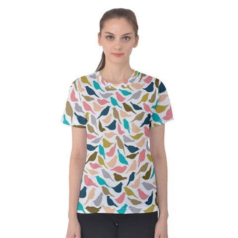 Colorful Birds Women s Cotton Tee by Brittlevirginclothing
