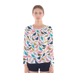 Colorful Birds Women s Long Sleeve Tee by Brittlevirginclothing