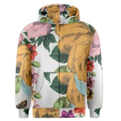 Vintage Flower Men s Zipper Hoodie by Brittlevirginclothing